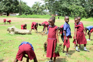 The Water Project: Pewullay Church of God Primary School -  Cleaning Activity