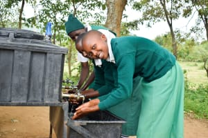 The Water Project: Kitooni Primary School -  Handwashing Station