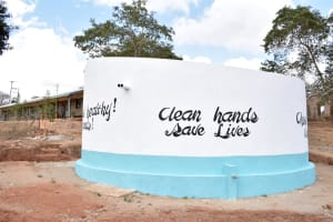 The Water Project: AIC Mbau Secondary School -  Finished Tank