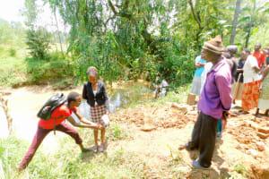 The Water Project: Mungakha Community, Nyanje Spring -  Handwashing Training