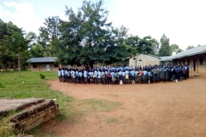The Water Project: Khabukoshe Primary School -  Morning Assembly