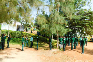 The Water Project: Esibila Secondary School -  Students Around School Grounds