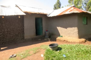 The Water Project: Bukhaywa Community, Asumani Spring -  Plastic Barrel Used For Water Storage