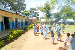 The Water Project: Mabanga Primary School -  Students On Class Break