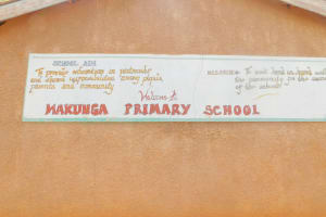 The Water Project: Makunga Primary School -  School Sign