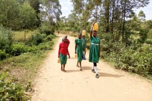 The Water Project: Elufafwa Community School -  Road To The School