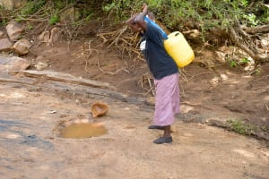 The Water Project: Ndithi Community A -  Current Water Source