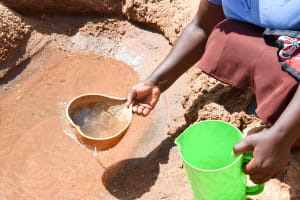The Water Project: Kithoni Community A -  Current Water Source
