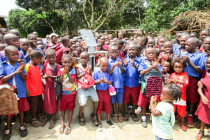 The Water Project: Pewullay Church of God Primary School -  Clean Water Flowing