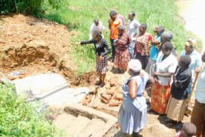 The Water Project: Mungakha Community, Nyanje Spring -  Spring Care Training