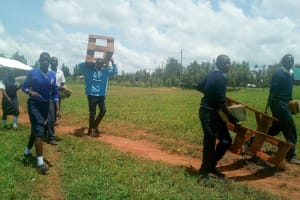 The Water Project: Namasanda Secondary School -  Students Going To Have Class Outside