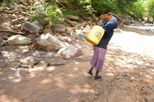 The Water Project: Ndithi Community -  Current Water Source