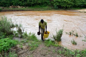 The Water Project: Muluti Community A -  Carrying Water