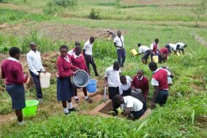 The Water Project: Lwakhupa Mixed Secondary School -  Fetching Water