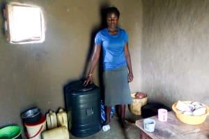 The Water Project: Mukhuyu Community, Kwawanzala Spring -  Water Storage