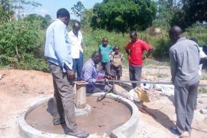 The Water Project: Karagalya Kawanga Community -  Pump Installation