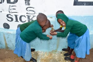The Water Project: Kithumba Primary School -  Water Flowing