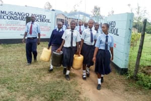 The Water Project: Musango Mixed Secondary School -  Going To Fetch Water
