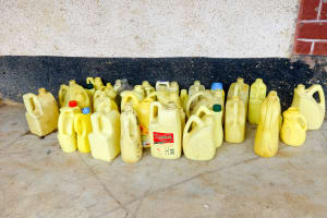 The Water Project: Shibinga Primary School -  Water Containers