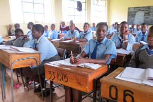 The Water Project: Koitabut Secondary School -  Students In Class