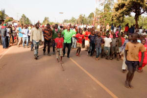 The Water Project: Bukhakunga Community, Ngovilo Spring -  Local Men Off To A Bull Fight