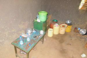 The Water Project: Eshiakhulo Community, Kweyu Spring -  Water Storage