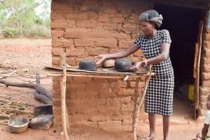 The Water Project: Kathamba Ngii Community -  Mwikali At Her Dish Rack