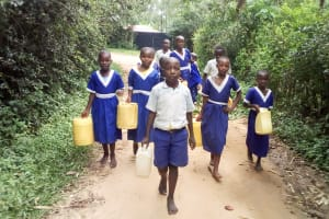 The Water Project: Musango Primary School -  Going To Fetch Water