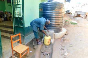 The Water Project: Esibila Secondary School -  Plastic Tank At Kitchen