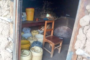 The Water Project: Chebunaywa Secondary School -  Water Storage In Kitchen