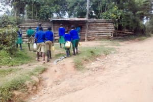 The Water Project: Koitabut Primary School -  Going To Fetch Water
