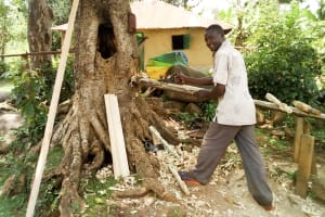The Water Project: Musango Community, Mwichinga Spring -  Evans Doing Carpentry