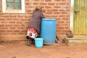 The Water Project: Kathamba Ngii Community A -  Water Storage