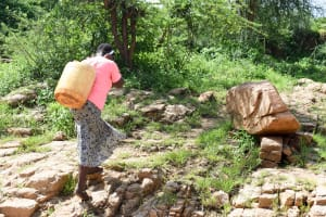 The Water Project: Kithoni Community A -  Carrying Water