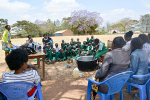 The Water Project: Kitooni Primary School -  Making Soap