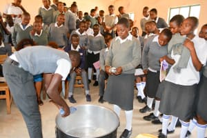 The Water Project: AIC Mbau Secondary School -  Soap Training