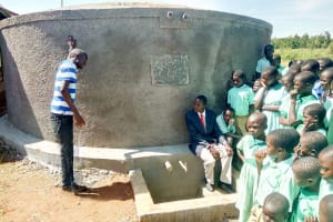 The Water Project: Eshikufu Primary School -  Training On Tank Management