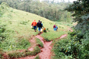 The Water Project: Kegoye Primary School -  Path To The Spring