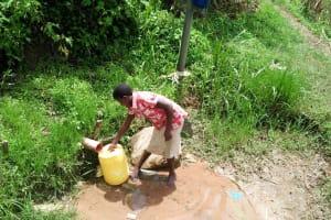 The Water Project: Musango Community, Mushikhulu Spring -  Fetching Water