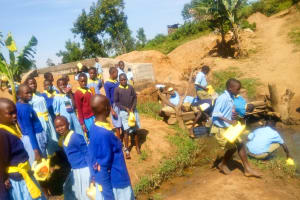 The Water Project: Mabanga Primary School -  Fetching Water