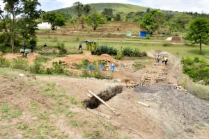 The Water Project: Mitini Community B -  Sand Dam Construction