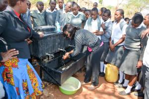 The Water Project: AIC Mbau Secondary School -  Handwashing Training