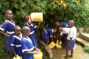 The Water Project: Musango Primary School -  Fetching Water