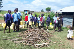 The Water Project: Namakoye Primary School -  Going To Fetch Water