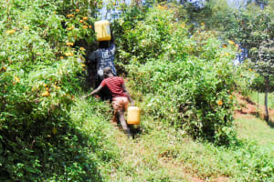 The Water Project: Ibinzo Community, Lucia Spring -  Carrying Water