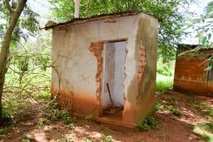 The Water Project: Muluti Community A -  Sample Latrine