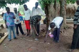 The Water Project: Karagalya Kawanga Community -  Community Members Taking Part In The Social Mapping Exercise During The Pvca Training