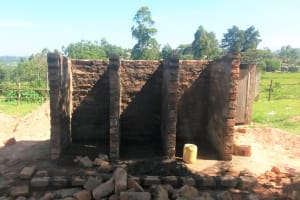 The Water Project: Friends Kaimosi Demonstration Primary School -  Latrines Nearly Complete