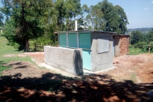 The Water Project: Friends Kaimosi Demonstration Primary School -  New Latrine