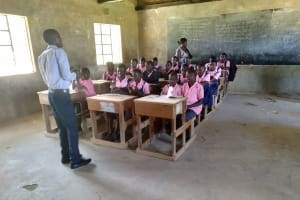 The Water Project: Friends Kaimosi Demonstration Primary School -  Students Listen In Training